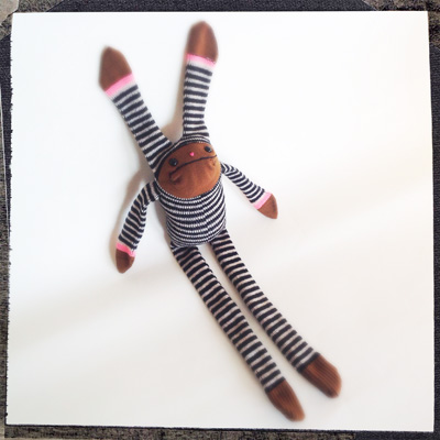 Striped Sock Bunny