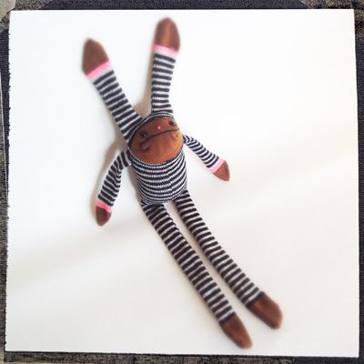 Striped Sock Bunny
